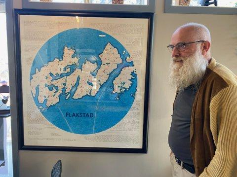 Even Bie Larsen har laget kunstverket til nye Ramberg skole.