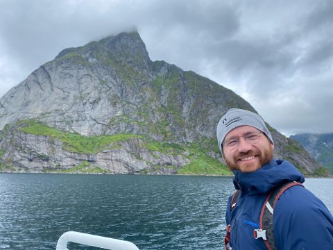 Klima- og miljøminister Sveinung Rotevatn (V) i Lofoten.