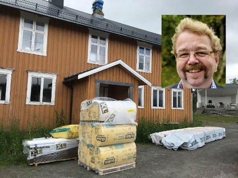 Jens Arne Martnes Andersen sier at de går i gang med det utvendige arbeidet i slutten av uka.