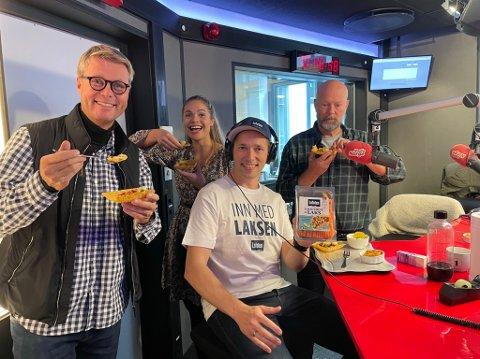 Øystein Rist i studio hos Morgenklubben med Loven & co på Radio Norge.