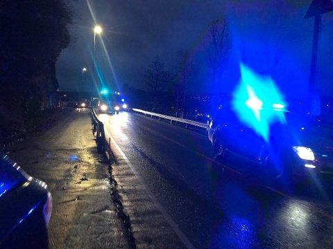 TJØRSVÅGSTRAND: Ulykken skjedde på Tjørsvågstrand, på veien mellom Flekkefjord sentrum og Åna-Sira.
