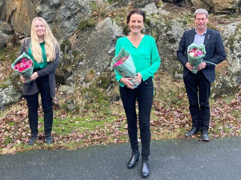 TOPP TRE: Gro-Anita Mykjåland, Iveland, Anja. N. Abusland, Senterungdommen/Kristiansand og Eivind Drivenes, Vennesla topper Senterpartiets liste i Agder.