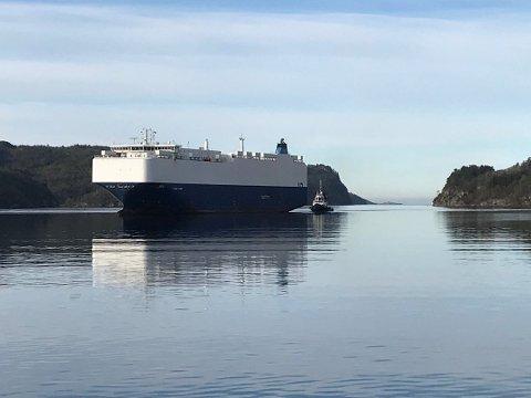 KARANTENESTASJON: «Viking Amber» er i første omgang tatt i bruk som karantenestasjon. En av sjøfolkene som skulle seile med «Høegh Caribia» har har fått påvist korona. Han har bare milde symptomer, men er isolert. Kollegene hans er satt i karantene.