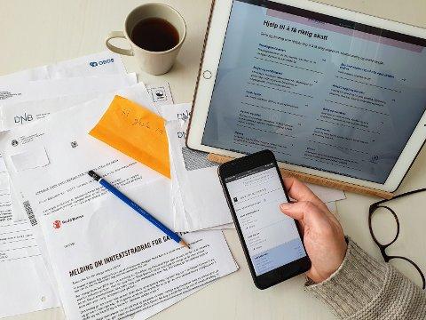 SKATTEMELDING: Skattemeldingen til lønnstakere, pensjonister og personlig næringsdrivende ble sendt ut mellom 16. mars og 7. april. Selv om skattemeldingen er forhåndsutfylt, er den ikke ferdigutfylt.
