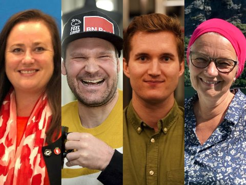 """Wenche Haug Almestrand, Øystein """"Pølsa"""" Pettersen, Joakim Trinerud Rognlien og Hege Riise har fått kjenne på hver sin epoke av livet."""