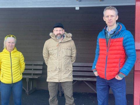 Randi Hoff, Thorstein Hernes og Thomas Johnsen håper å bevare Skihytta Grendehus.