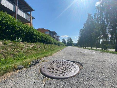 Idyllen i Oscar Skoglysveg i Nordre Ål brytes hver gang en syklist på ett eller to hjul passerer kumlokket på gang- og sykkelvegen.