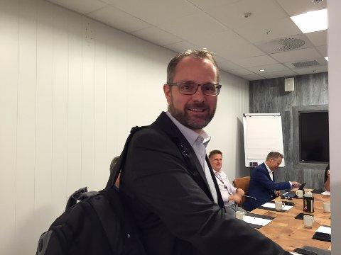 Har en plan: Administrerende direktør Knut Ragnar Johannessen i Rygge Airport As har en plan for Moss Lufthavn Rygge.
