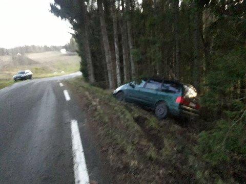 Ingen personer kom til skade i utforkjøringen på Vestbyveien.