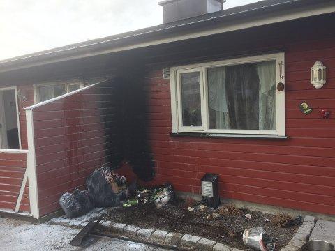 Flammene fikk herje en del før brannen ble slukket.
