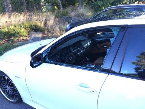 Innbruddstyvene har forsynt seg av to BMW'er i løpet av natten. Bildet er tatt på Øreåsen.