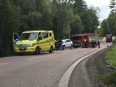 DØDSULYKKE: En mc-fører omkom etter en fronkollisjon med en bil.