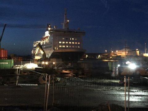 NØDHAVN: Color Viking måtte søke nødhavn i Moss natt til torsdag.