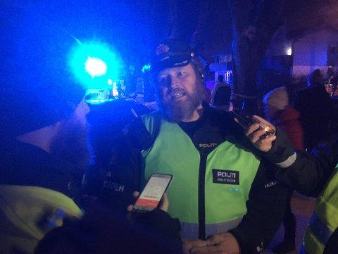 INNSATSLEDER: Politioverbetjent Stig Øvergård.
