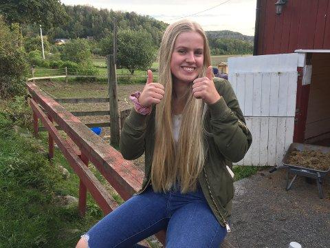 GLEDER SEG: Vilde Gudøy Eggesvik (17) er full av forventning foran Oslo Horse Show, det største hun har vært med på så langt i sprangkarrieren.