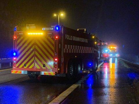 Én person ble lettere skadet i trafikkulykken på E6 fredag.