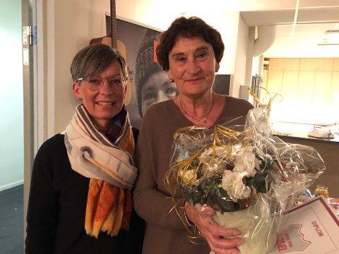 BLE TAKKET: Inger Martrethe Lie og ordfører Hanne Tollerud.
