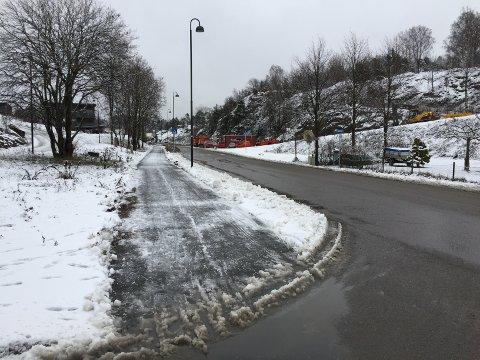 SKILT: Gang- og sykkelveien langs Osloveien skal skiltes.