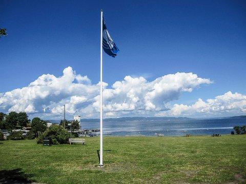 Blått flagg: Har vajet over Tronvikstranda fra 2014.