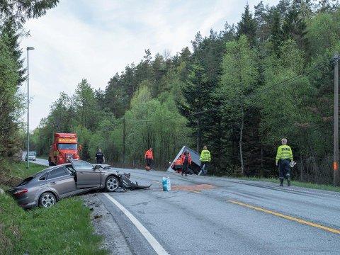 ULYKKE: En mann fra Moss omkom etter trafikkulykken på Sørlandet.
