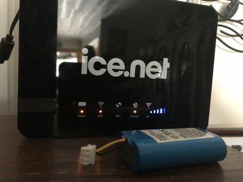 Brannfare: Det skal være denne typen router som Ice nå ber om at batteriet frakobles fra.