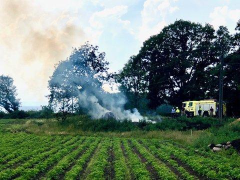 Årsaken til brannen ved Nes camping var uvettig bålbrenning.