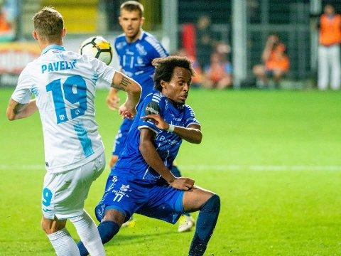 KLARE FOR EUROPA: Mossing Amin Askar var i førsteelleveren da Sarpsborg 08 spilte seg til Europa League i Israel torsdag kveld. Nå venter Europa på det suksessrike laget.