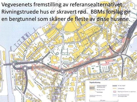 """Konsekvensene av """"referansealternativet"""" ifølge Statens vegvesen"""