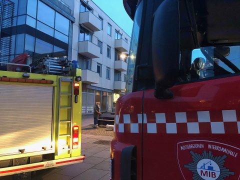 Alle beboerne ble evakuert da brannalarmen ble utløst i en boligblokk i Moss sentrum