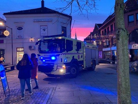 Ingen personer kom til skade da brannalarmen gikk i Kronprinsens gate fredag ettermiddag.