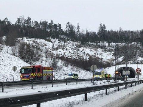 RUS: Mannen som kjørte i autovernet ved Eidet-tunnelen søndag formiddag hadde en promille på to og er allerede dømt for forholdet.