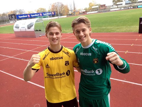 MED: Begge Wasenius-brødrene er med i startoppstillingen mot Levanger lørdag. Fredrik til venstre og Andreas til høyre.
