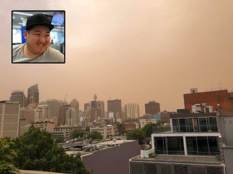 MASSE RØYK OG LUKTER SVIDD: - Her ser du røykteppet fra leiligheten min, skriver Knut Arne Hansen.