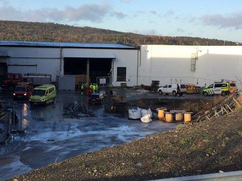 VERKET: Torsdag oppsto det en brann på et industribygg på Verket