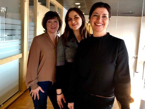 VIL HJELPE: Cecile Matre (foran), Blazhka Popova og Janne Drage jobber intenst for at kriminalutsatte skal komme seg tilbake til livet.
