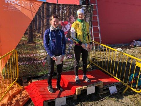 TIL TOPPS: Aurora Gjølsjø vant D 19-20 elite i Lørdagskjappen foran Synne Strand fra Asker.