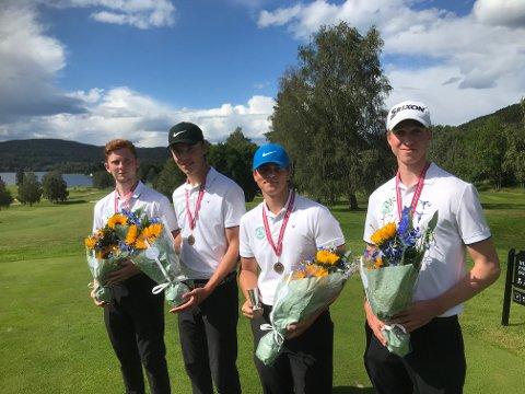 Moss & Rygge Golfklubbs gutter kjempet seg tapper til en sterk bronseplass i lag-NM.