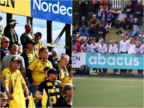 KJØPER BILLETTER: Både MFK- og Sprint-supporterne kjøper billetter til en kamp som ikke blir spilt.