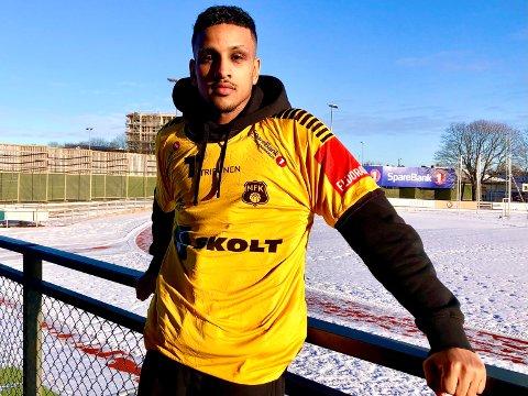 FRA SKEID: Fredag ettermiddag signerte Adonai Kidane kontrakt med Moss FK. – Kantspilleren kommer fra Skeid og skaffet blant annet Skeid et straffespark da lagene møttes på Melløs i 2020-sesongen.