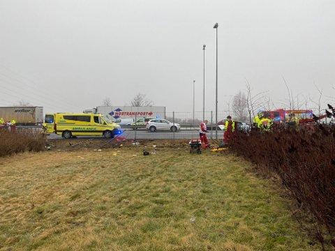 To biler har torsdag vært involvert i en ulykke på E6 ved Grålum.