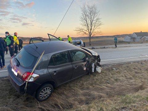 Det er store materielle skader på kjøretøyene etter et sammenstøt på Mosseveien torsdag kveld.