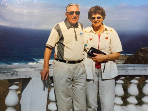SAMMEN: Knut og Aslaug var glade i å reise, både inn- og utlands.