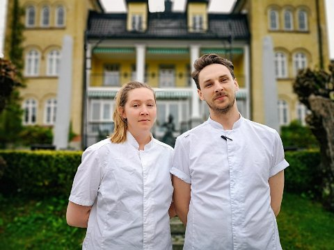JELØY: Det lokale kokkeparet Christine Andresen (29) og Hampus Åberg (30) både bor og jobber på Jeløy. Nylig ble de kolleger.