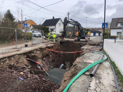 Gravearbeidet rundt Bellevue vil fortsette nordover i retning Ramberg