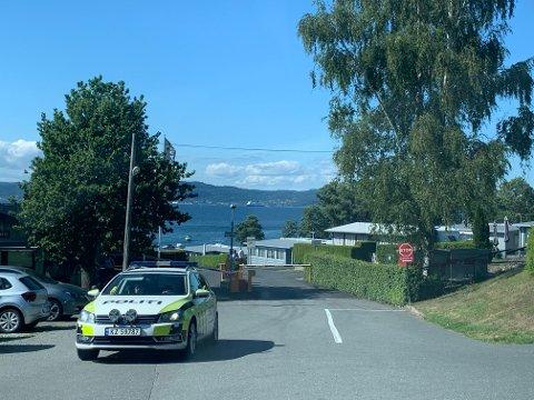 ULYKKE: Mandag ettermidag fikk politiet melding om en drukningsulykke ved Nes Camping på Jeløy.