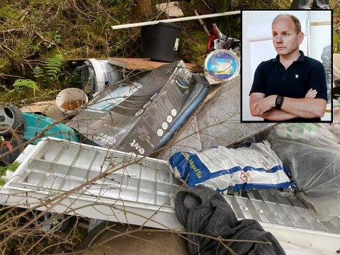 Ordfører i Våler kommune, Reidar Kaabbel (Sp), oppdaget at noen hadde kastet store mengder søppel på hans eiendom tirsdag ettermiddag.