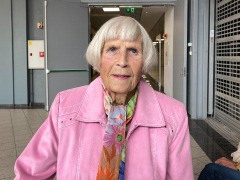 FORNØYD: Margaret Kase er fornøyd med helsetjenesten i Moss.