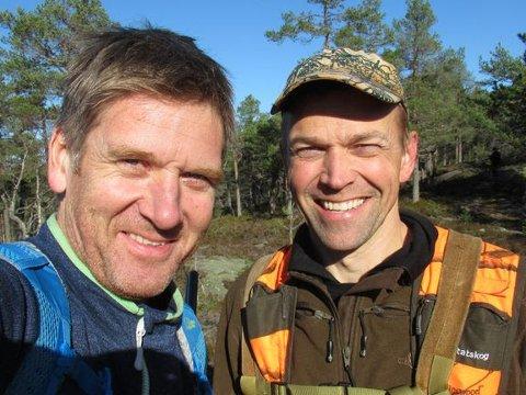 Trond Gunnar Skillingstad, kommunikasjonssjef i Statskog (til venstre) og Jo Inge Breisjøberget, fagsjef i Statskog mener rypejakta i Norge foregår på en bærekraftig måte.