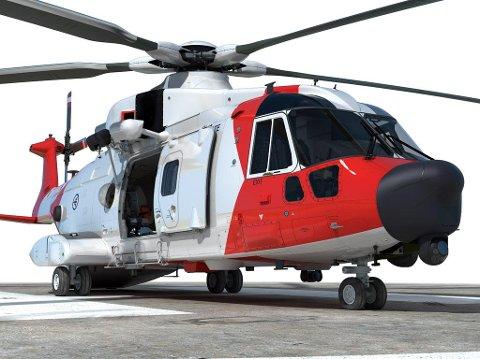 Nytt redningshelikopter: Det nye redningshelikopteret av typen AW-101 kan lande bare på seks akuttsykehus, ifølge NRK.