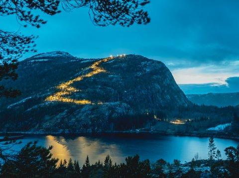 LYSER OPP: 41 lyspunkter er satt opp i forbindelse med prosjektet «Lys på Storfjellet».